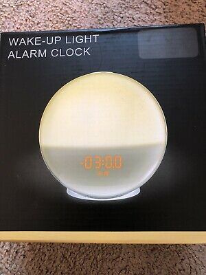Wake Up Light Alarm Clock Lamp Radio Sunrise Fading Sunset Brand New US SELLER
