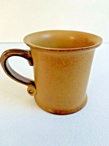 Bennington Potters Vermont Mug 1733 Mustard Tawney Gold Brown Tavernware