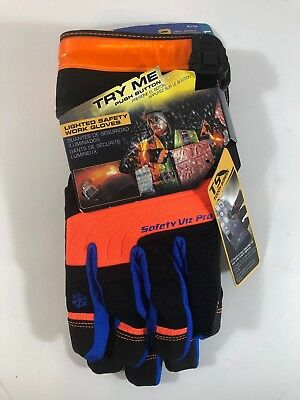 Clc Custom Leathercraft L173l Lighted Winter Safety Viz Pro Gloves Large