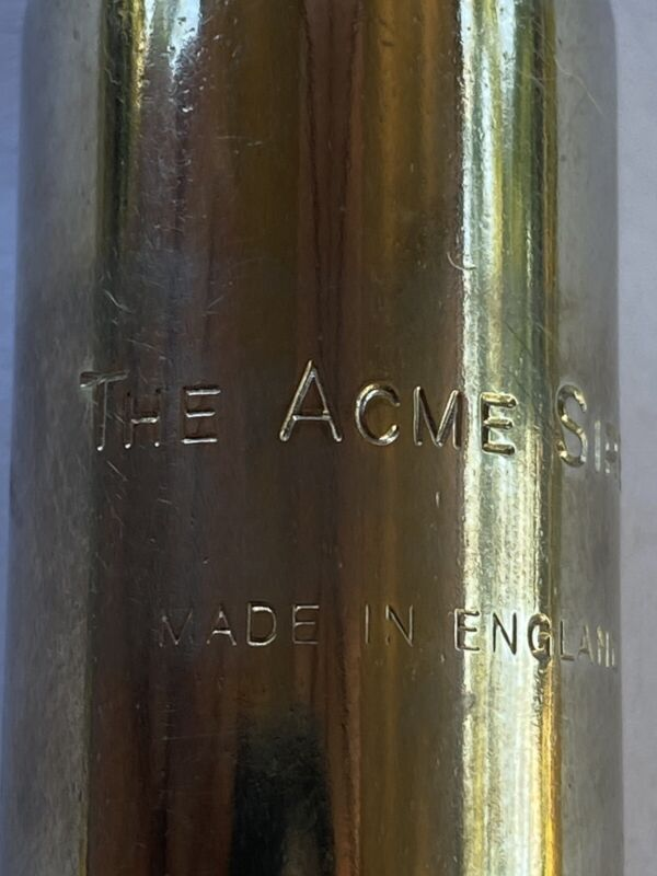 VINTAGE THE ACME SIREN BLOW WHISTLE SIREN SOUND MADE IN ENGLAND