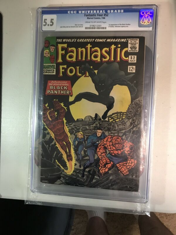 Fantastic Four 52 CGC 5.5 First Appearance Black Panther