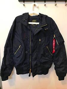 Alpha Industries Helo Bomber Jacket (SMALL) (BLUE) Marrickville Marrickville Area Preview