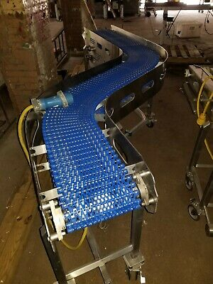 Stainless Steel 14 X 104 S Shape Washdown Conveyor With Plastic Belt