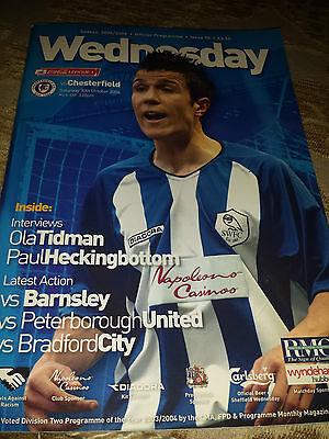 Sheffield Wednesday v Chesterfield, 2004-05