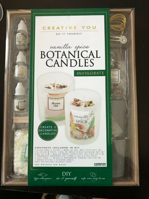 CUSTOM CANDLES Creative You - Do It Yourself Kit - Vanilla Spice - NEW Unopened