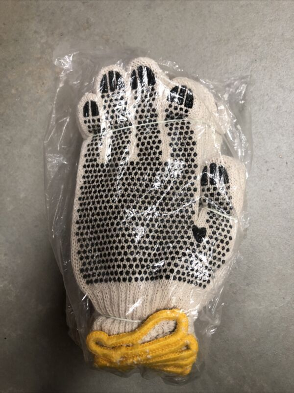MSC KNITED PVC DOT COATED 2 SIDED GLOVES - SMALL - PACK OF 12 INDUSTRIAL GLOVES
