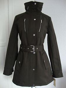michael kors trenchcoat mantel jacke parka damen mit kapuze braun gr l neu ebay. Black Bedroom Furniture Sets. Home Design Ideas