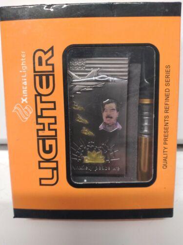 Vintage SADDAM HUSSEIN Iraq War Butane Lighter NEW in Original Packaging w/ pipe