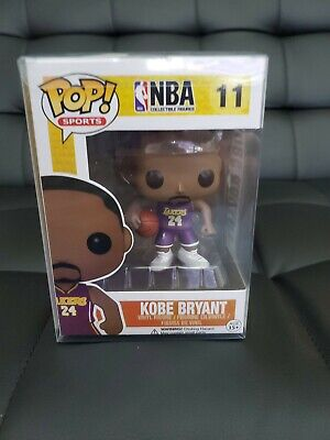 Kobe Bryant Funko Pop #11 Purple Away Jersey NBA Shipped with Pop Protector!