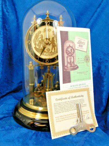 SCHATZ   ALL ORIGINAL 67 YEAR OLD 400 DAY GERMAN  ANNIVERSARY CLOCK NICE GIFT