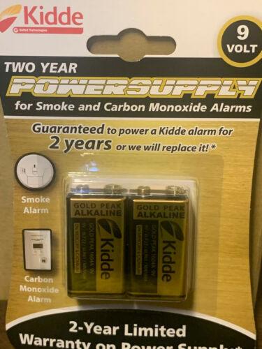 2pk Kidde 9V Battery 2-year Power Supply for Smoke & Carbon Monoxide Alarm 2025