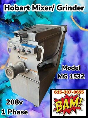 Hobart Mg1532 150lb Meat Grinder Mixer- 208v 1 Phase- Tested Working