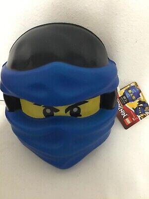 Lego Ninjago Costumes (LEGO Child Ninjago Jay Plastic Mask Costume Blue One Size)