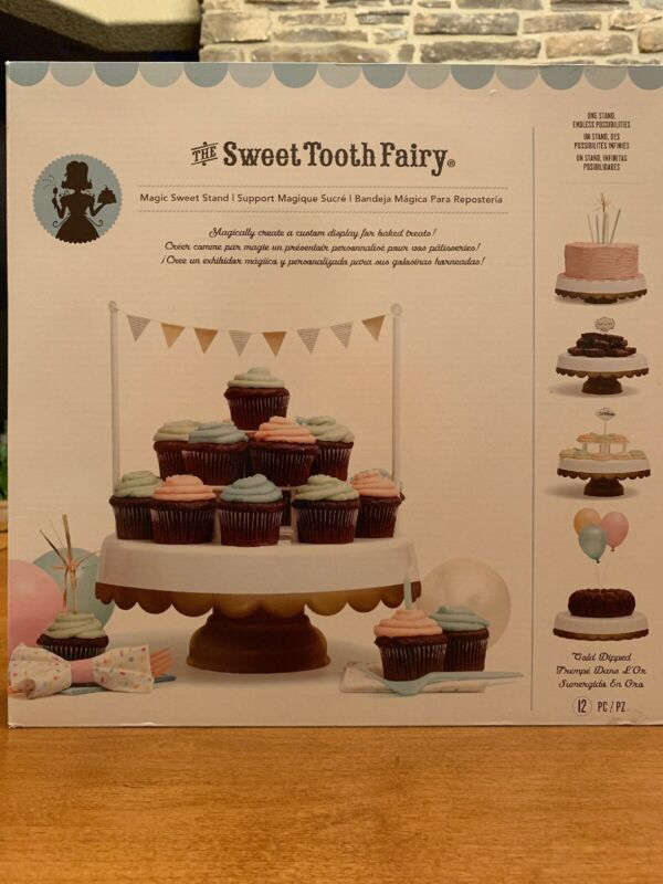 American Crafts Sweet Tooth Fairy Magic Sweet Cake Stand White/Gold 12 Pieces