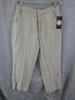Stone Harbor Linen Blend Cropped Pants Size 8 NWT