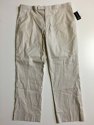 NWT $80 INC International Concepts Mens 38 (40x30) Beige Linen Blend chino Pants