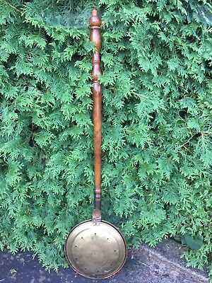 Antique Long Handle Copper Bed Warmer Copper Wall Decor