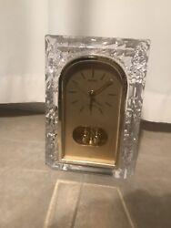 Seiko Glass Gold Quartz Desk Clock