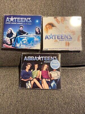 RARE USED CD LOT: A-Teens Singles- Gimme, Mamma Mia, Super Trouper (Imports)