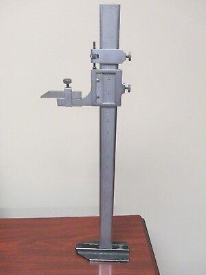 Used Starrett 18 Inch 480mm Metric Vernier Height Gage C454 Me