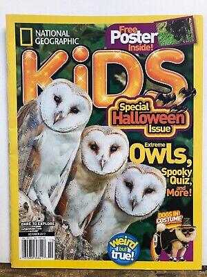 National Geographic Kids Extreme Owls Halloween Issue Oct 2017 FREE SHIPPING JB (National Geographic Kids Halloween)