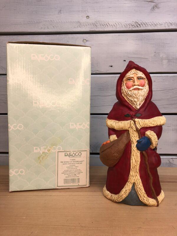 Enesco - Lefever - The World of Sinterklaas - Santa with Bag - #714895 -With Box