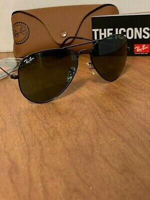 Ray-Ban Aviator Sunglasses RB3025 L2823 58mm Black Frame/G-15 Green (Ray Ban Aviator Rb3025 L2823)