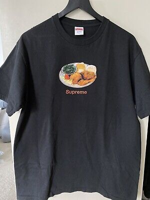 Supreme - Chicken Dinner Tee Black T-Shirt Size L Large SS18