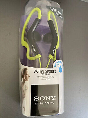 Sony MDR-AS200 Active Sports Movable Loop Hanger Headphones, Green for sale  Shipping to India