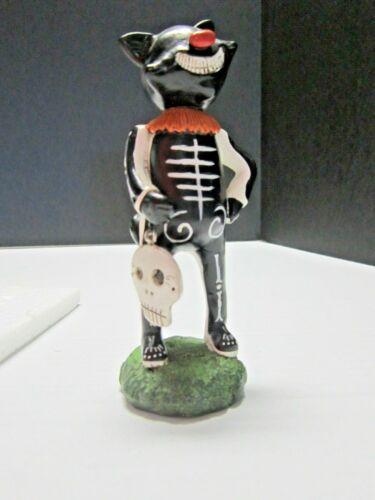 Dept 56 Janell Berryman Pumpkinseeds Smiling Black Cat Figurine Halloween