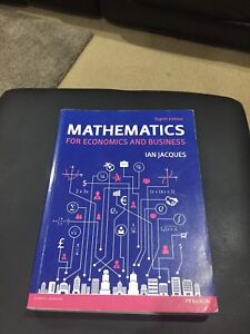 Mathematics for economics and business textbooks gumtree mathematics for economics and business textbooks gumtree australia free local classifieds fandeluxe Image collections