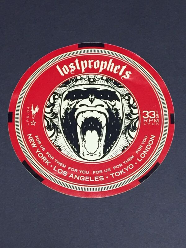 Lost Prophets Start Something Sticker Rare Record Store Promo Promotional WOW