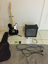 Fender Squier Telecaster & Roland Cube amp + Extras Karalee Ipswich City Preview