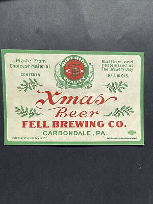 Fell Beer Label Carbondale Pa