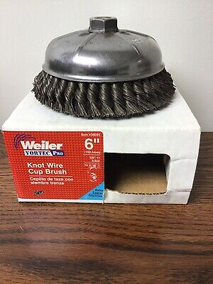 Weiler Vortec Pro 6 Knot Wire Cup Brush 36045 Extra Coarse 58-11 Arbor New