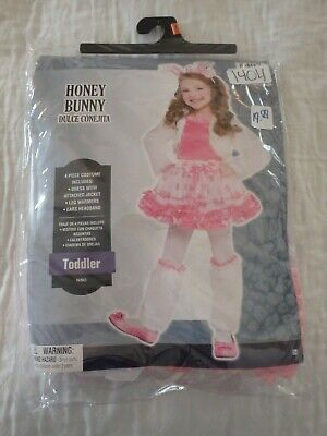 HONEY BUNNY 4 PIECE COSTUME- TODDLER 3-4 NWT
