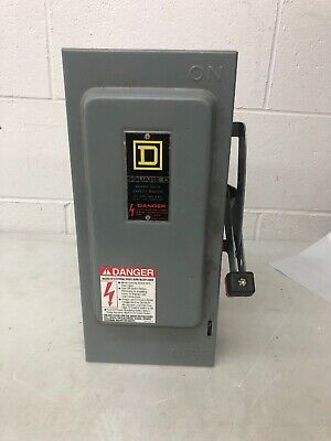 Square D H361n Heavy Duty 30a 600v Fusible Safety Switch