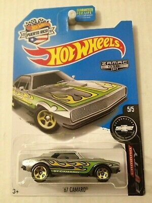 Hot Wheels Zamac 67 Camaro Rare Variation Card NIP