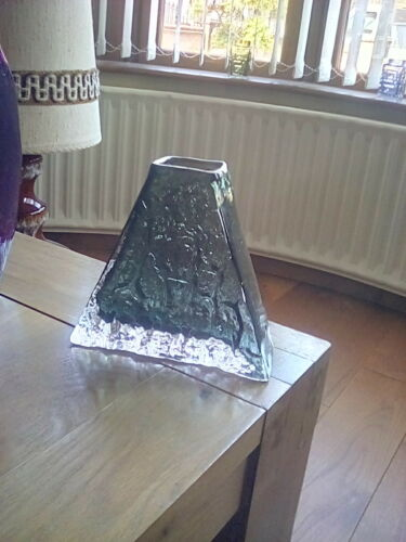 Whitefriars  willow pyramid vase.