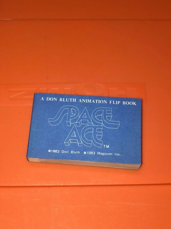 VTG Magicom Don Bluth Animation Flip Book Space Ace Cartoon Blue Cover 1983