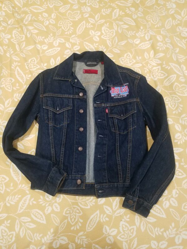 Meat Loaf The Last World Tour Australia 2004 Denim Jacket Levis Red Tab NEW Sml