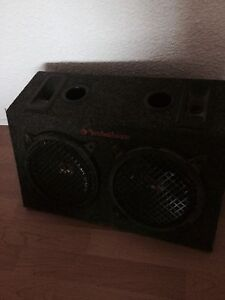 2 8' subwoofers in factory Rockford inclosure