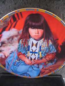 Lenox-1994-INDIGO-GIRL-Don-Crowley-Children-of-the-Sun-and-Moon-Ltd-Ed-Plate