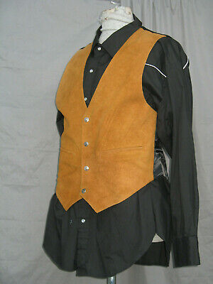 Cowboy Shirt & Vest Western Old West Sheriff - Old West Cowboy Kostüm