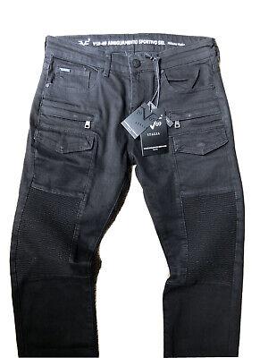 V1969 ITALIA Mens Slim Straight Moro Jeans Versace Black $118 Size 30x32