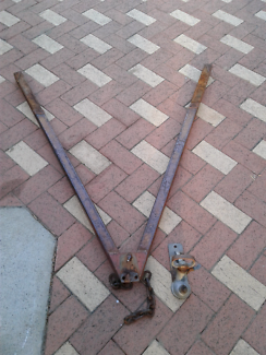 """Replacement square tube  """"A"""" frame with 2t hitch for box trailer"""