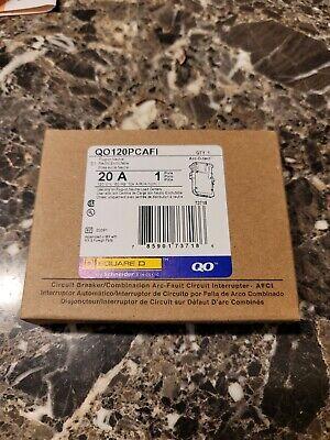 New Square D Qo120pcafi 20 Amp 1-pole 120v Circuit Breaker