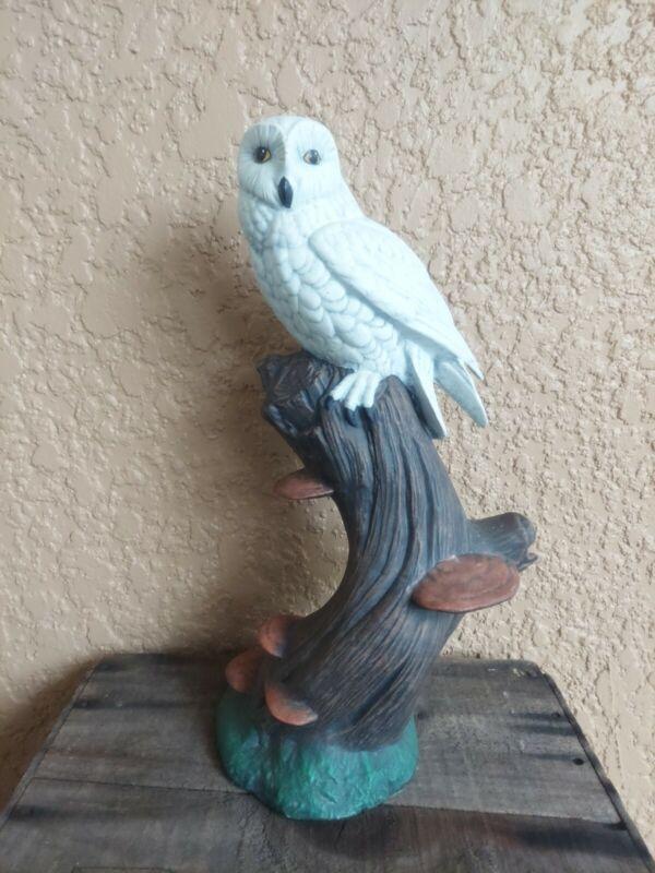 Vintage Owl Statue Ceramic