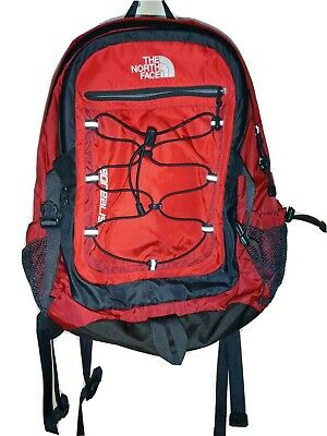 THE NORTH FACE Borealis Backpack Red Pre Owned Compartments Hiking Trails EUC