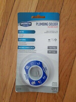 Plumbing Solder Solid Wire 4 Oz Worthington New In Package